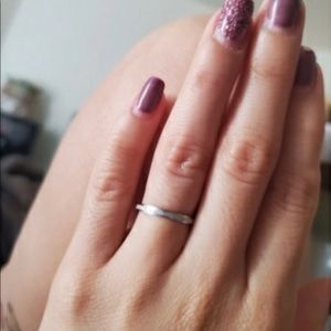 NWT Sandblasted Stainless Steel Ring
